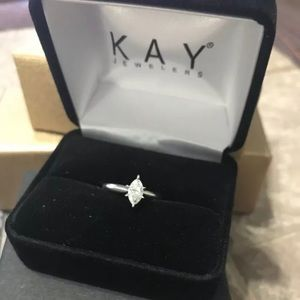 Kay jewelers 1/2 ct marquise diamond set in white